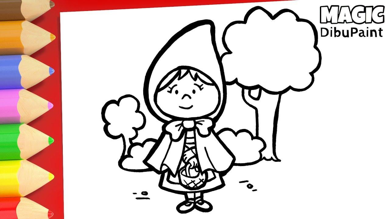 Cómo Pintar A Caperucita Roja Dibujos Para Dibujar Youtube