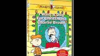 Opening To I Want A Dog For Christmas, Charlie Brown 2004 DVD