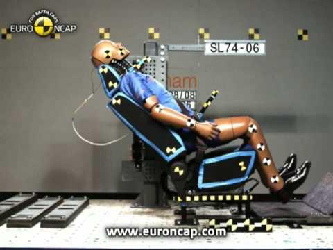 euro ncap rear impact whiplash test rating poor youtube. Black Bedroom Furniture Sets. Home Design Ideas