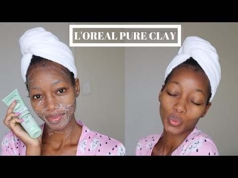 l'oreal-pure-clay-washes-purity-demo-and-review- -skincare-routine- -south-african-youtuber