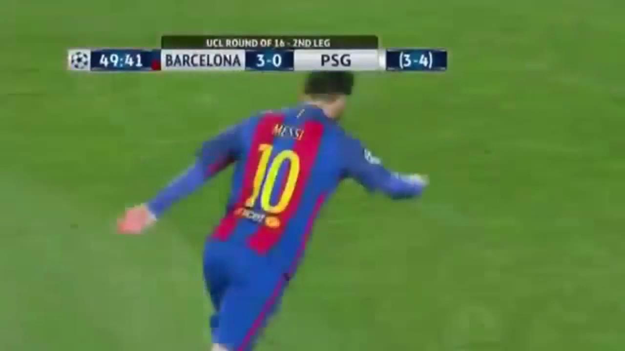 Barcelona vs PSG 6-1 Goles 09 03 2017 Champions League ...