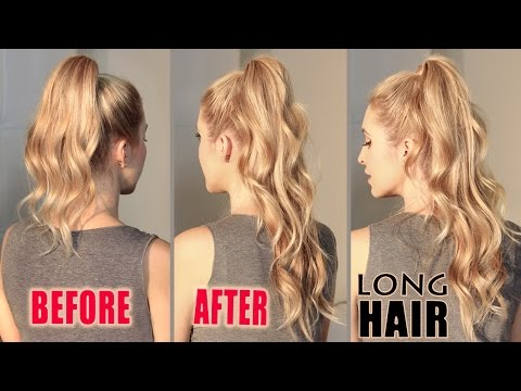 how-to-get-long-hair-in-2-min-without-extensions.-ariana-grande-hair-tutorial