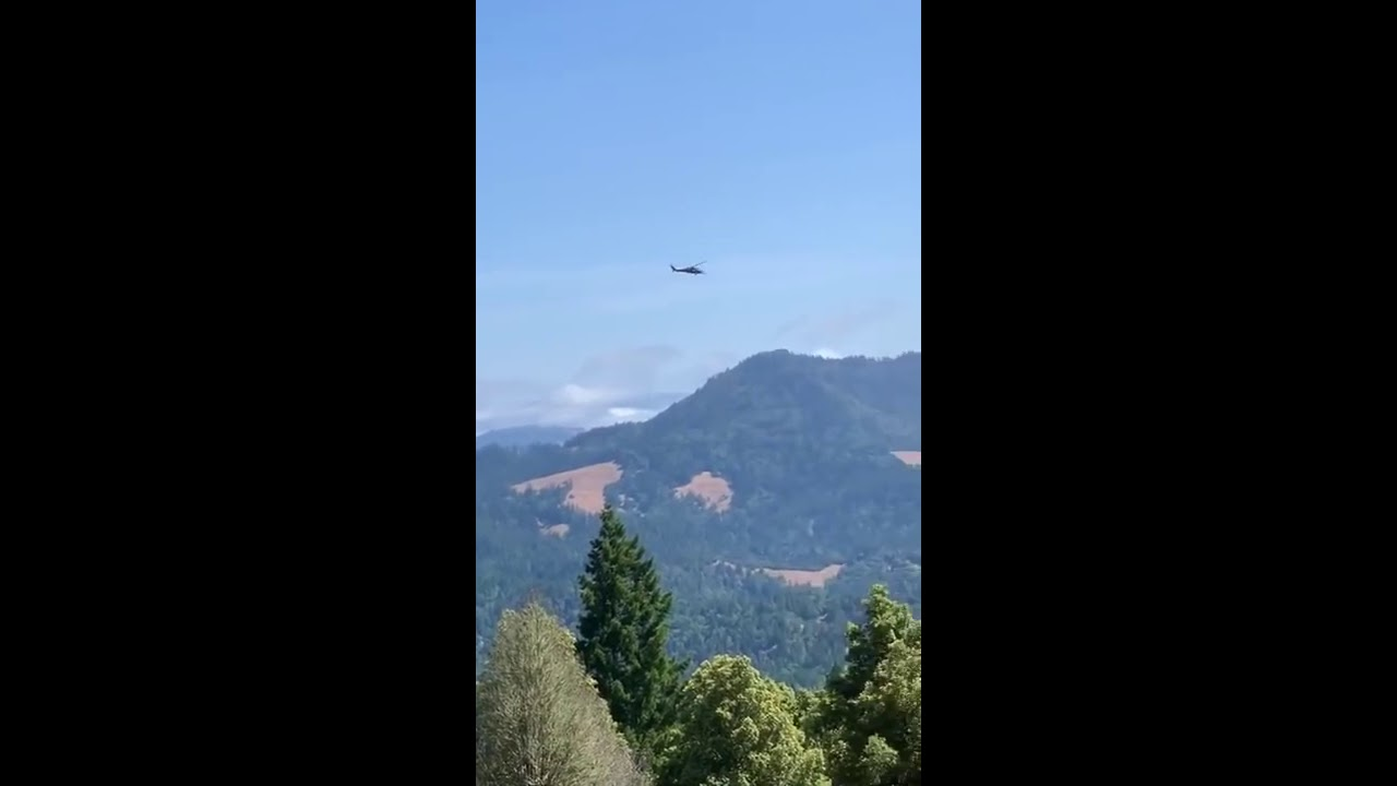 Helicopter Circling Areas of Southern Humboldt – Redheaded