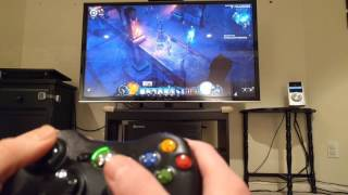 Diablo III on PC with controller