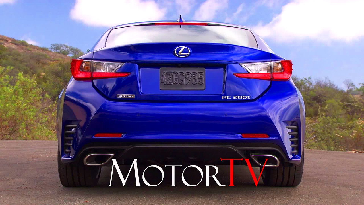 New 2017 Lexus Rc 200t F Sport L Exterior Driving Scenes Youtube