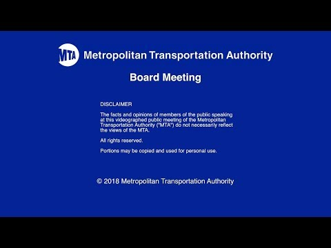 MTA Board - Finance Committee Meeting - 12/03/2018