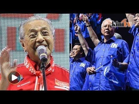 Muka Najib berkedut-kedut masa baca manifesto, sindir Dr M