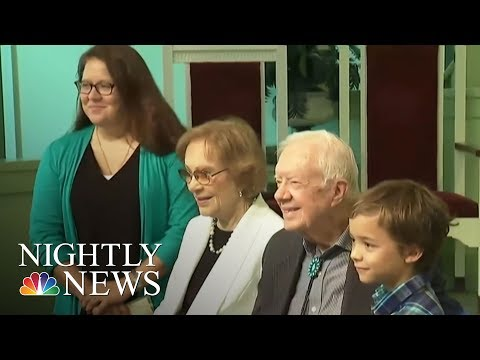 Former President Jimmy Carter Returns To Teach Sunday School After Health Scare | NBC Nightly News