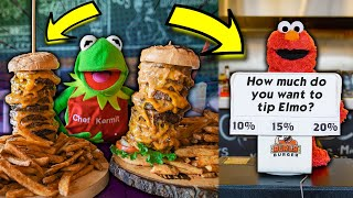 THE 10 POUND BURGER CHALLENGE! (Kermit's Kitchen: Restaurant Edition)