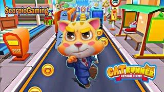Cat Runner game| Run , jump and collect gold couns 💰 racing game screenshot 2