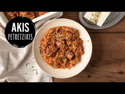 Greek Beef And Orzo Pasta Casserole (Giouvetsi)  | Akis Petretzikis