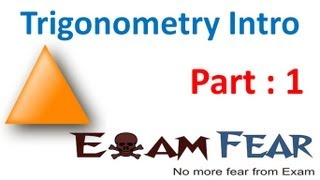 Maths Introduction to Trigonometry part 1 (Introduction) CBSE class 10 Mathematics X