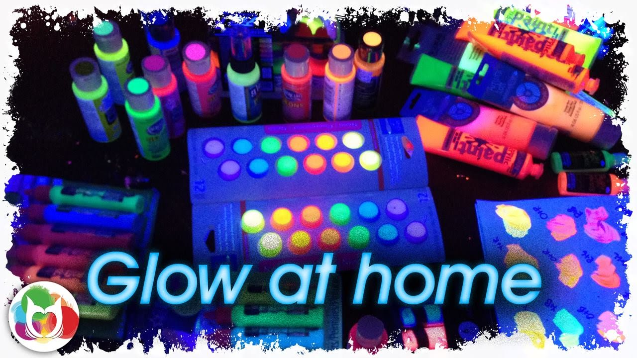 Live Glow At Home Diy Black Light Painting Party With The