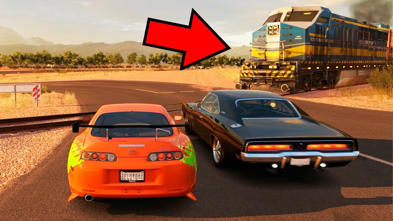 Supra Vs Charger >> VELOZES E FURIOSOS DESAFIO DO TREM! FORZA HORIZON 3 RACHA DE SUPRA VS DODGE CHARGER! - YouTube