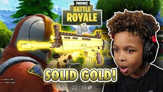 Worst Kids in UK on Fortnite?? SOLID GOLD GAMEPLAY!!