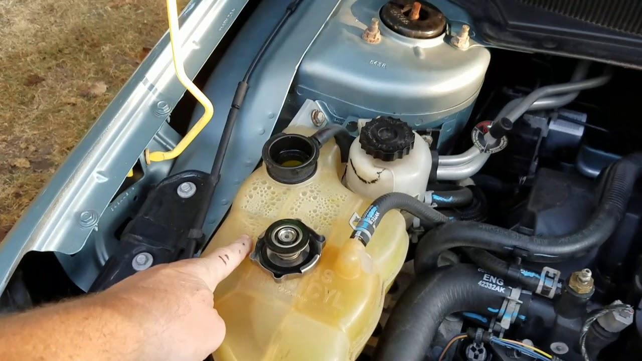 Coolant flush and bleeding Chrysler 2 7 YouTube