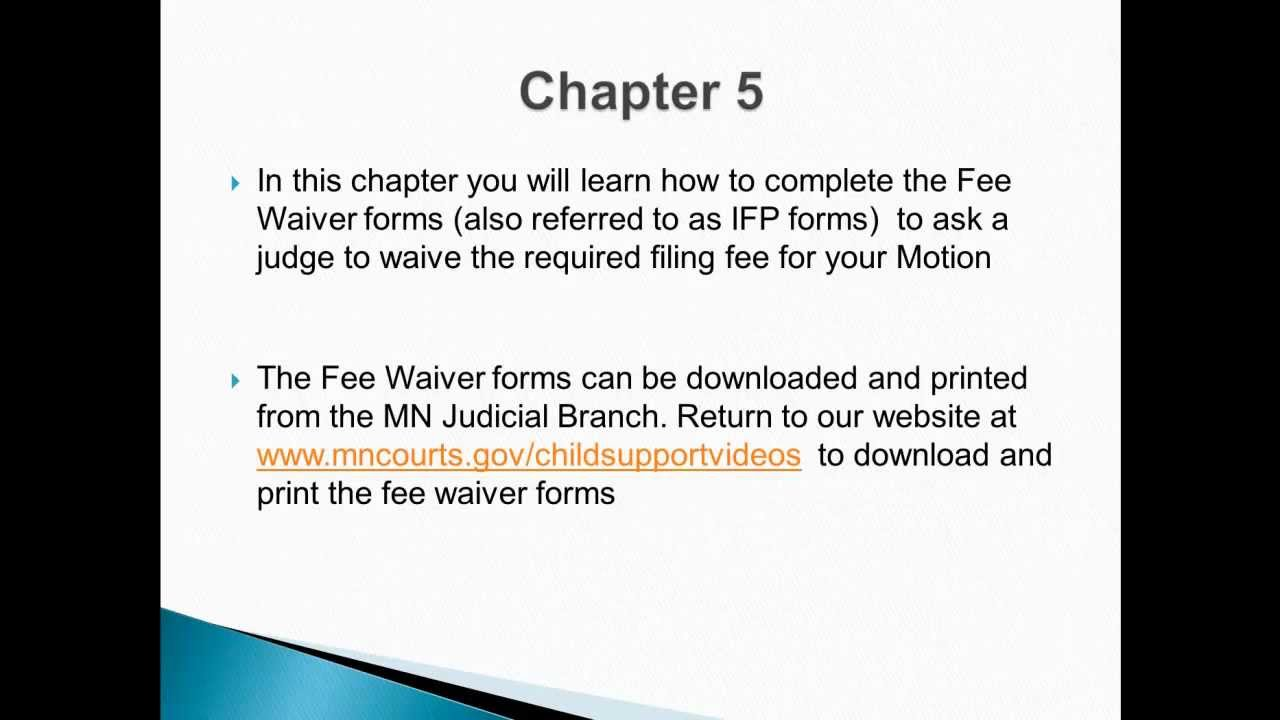 Chapter 5 fee waiver forms cola youtube chapter 5 fee waiver forms cola falaconquin
