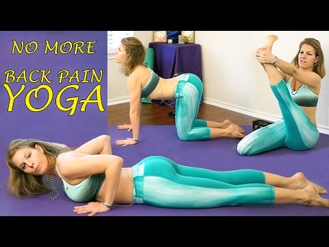 Yoga Stretches For Back Pain & Sciatica Relief - Beginners Flexibility For Men & Women