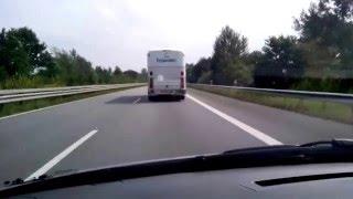 Die Reimanns Eagle Bus auf dem weg nach Hamburg.