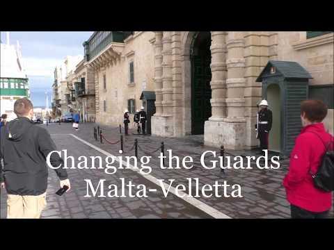 Guard change in Valletta