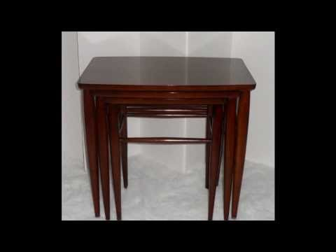 MID CENTURY FURNITURE 4 LESS.COM BEAUTIFUL 3 MID CENTURY MODERN DANISH NESTING TABLES BY MERSMAN
