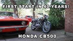 Honda CB500 Barn Find - Will it run?