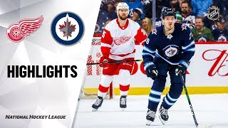 NHL Highlights | Red Wings @ Jets 12/10/19