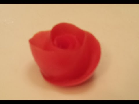 Cách tỉa hoa Hồng từ Cà chua. Carving Rose from tomatoes/Rose schnitzen aus tomaten-