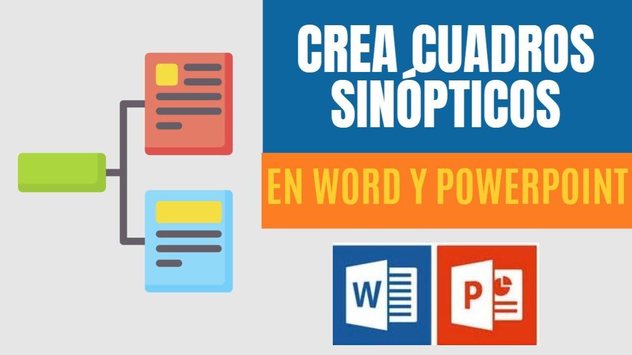 Crear cuadros sinópticos en Power Point o Word super fácil! - YouTube