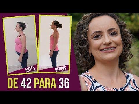 Como emagreci e sai do 42 para 36 - Luciana conta sua história de superação!