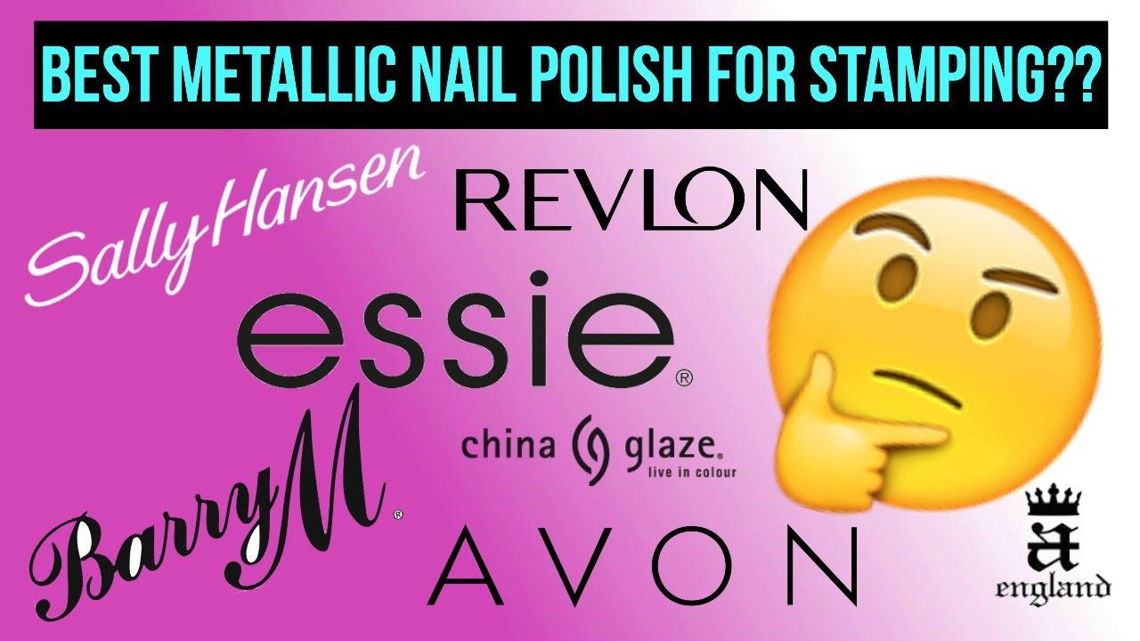 Best Regular Nail Polishes For Stamping Metallics Chromes