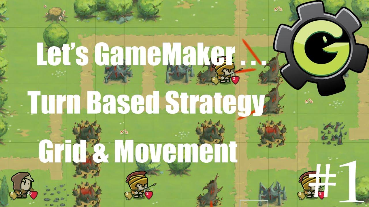 Let's GameMaker: Turn Based Strategy #1 (Grid & Movement) Tutorial
