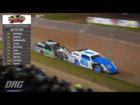 Proctor Speedway 8/30/18 WISSOTA Modified Feature FULL Race!!!!