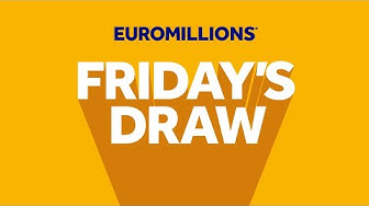The National Lottery 'EuroMillions' draw results from Friday 13th March 2020