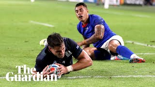 Rugby World Cup Scotland beat Samoa 34-0 to secure bonus point