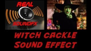Witch cackle laughing sound effect - halloween realsoundFX