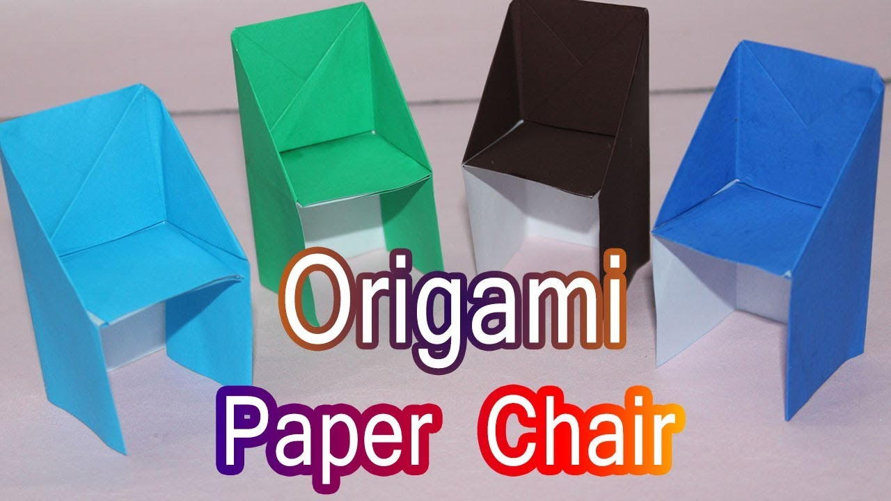 How To Make Origami Paper Chair Craft Tutorials Paper Crafts For