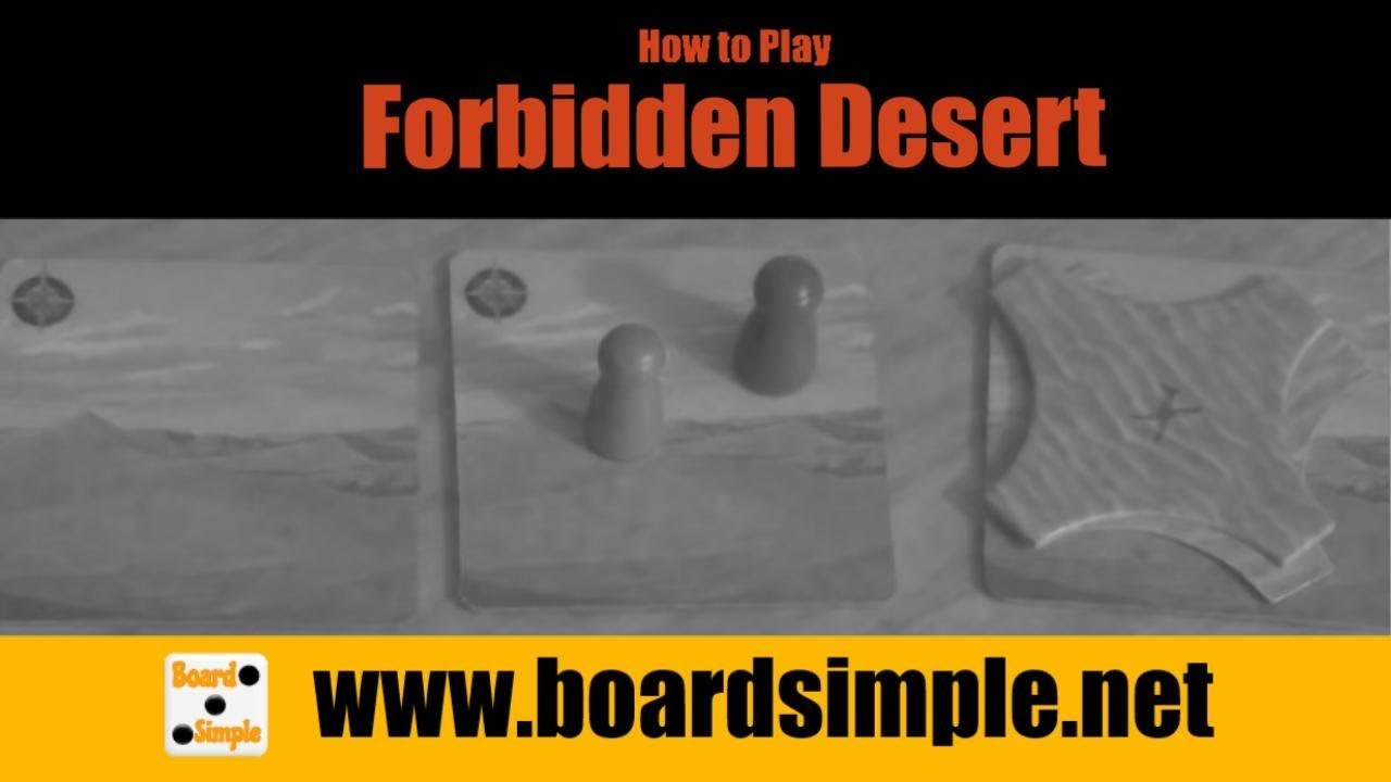 forbidden desert how to play