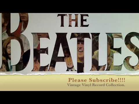 "♫ Gopro video - Vintage vinyl record collection The ""Beatles"" George, John, Paul & Ringo."