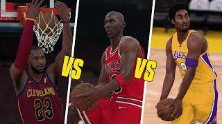 Michael Jordan vs LeBron James vs Kobe Bryant Dunk Contest! | NBA 2K18 |