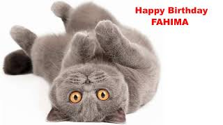 Fahima   Cats Gatos - Happy Birthday
