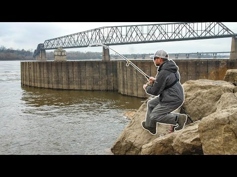 Fishing A GIANT Natural SPILLWAY For River Monsters!!!