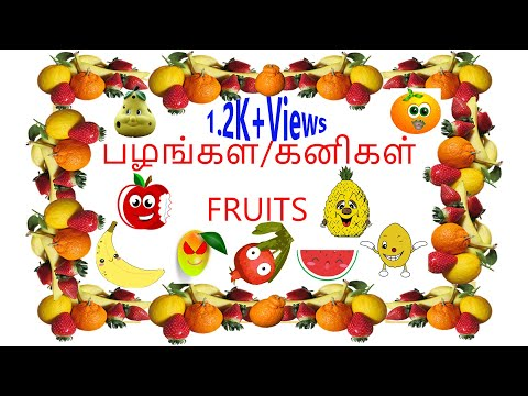 பழங்கள்/கனிகள் பெயர்கள் | Fruits Name In Tamil And English For Kids