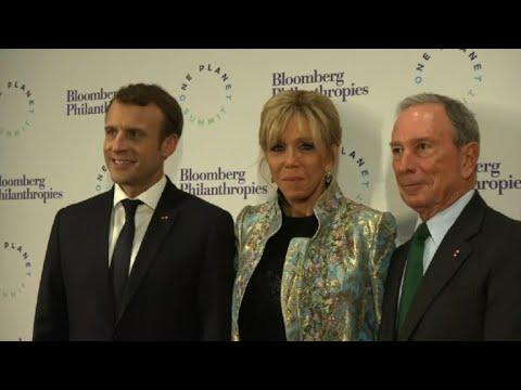 Sommet sur le climat: Macron et Bloomberg dînent au Grand Palais