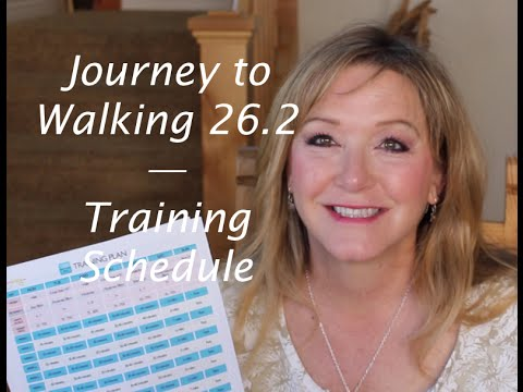 Journey to Walking 26.2-Schedule