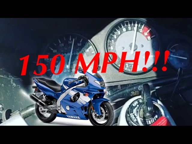 Top speed run on the yzf600! and wheelies!