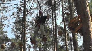 Урок фітнесу у мотузковому парку!