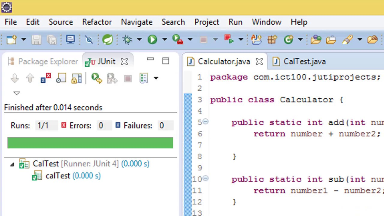 Java Calculator Application with JUNIT testing