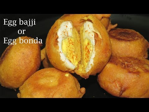 Egg Bajji Recipe in Telugu-Egg Bonda Recipe with Tips-Egg Recipes in Telugu-How to make Egg Bonda