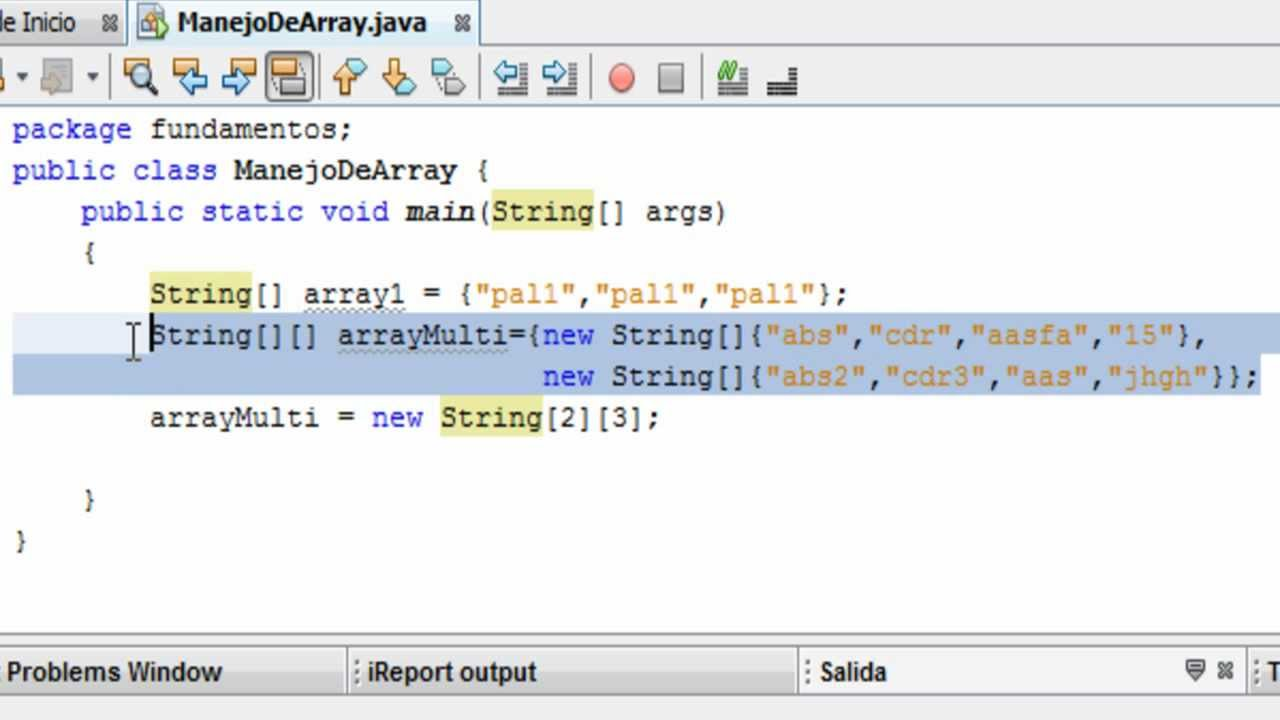 Tutorial de programacion java 27 array for Como programar en java